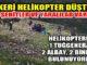 Giresun'da komutanların içinde bulunduğu askeri helikopter düştü!